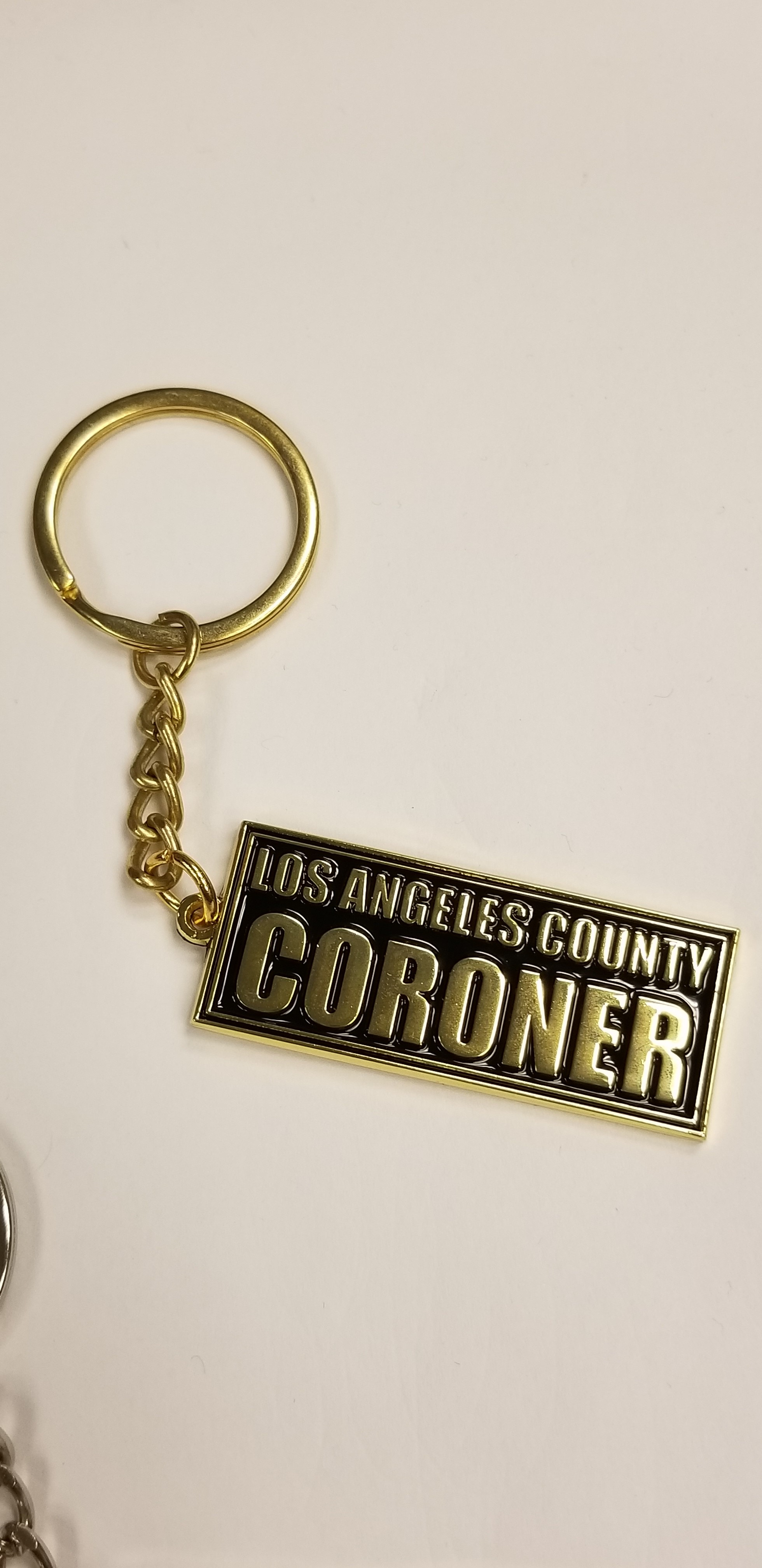 Mini Coroner Block Key Chain-Gold