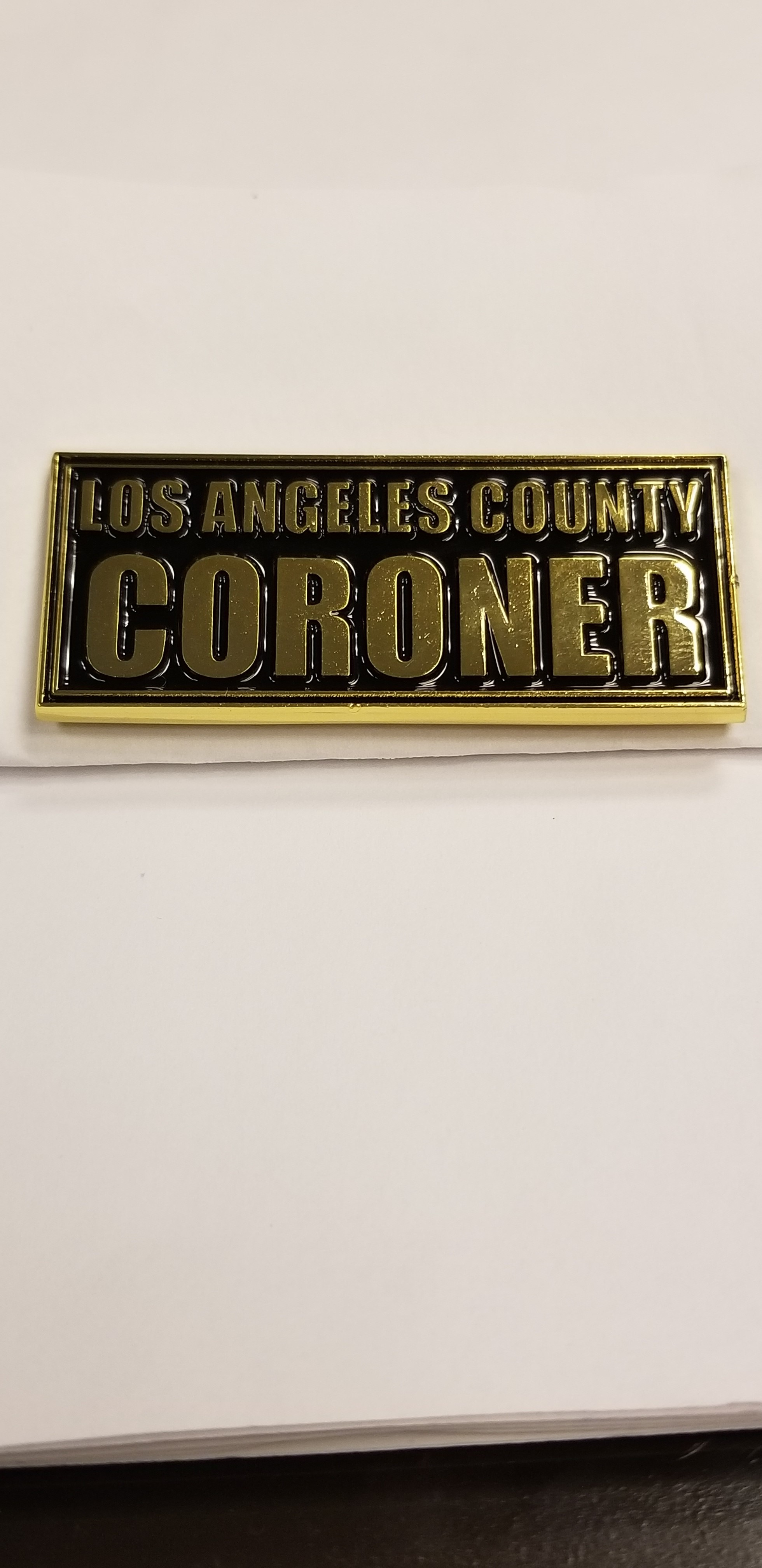 Mini Coroner Block Magnet-Gold