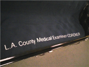 L.A. County Coroner Fleece Blanket