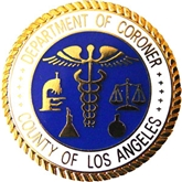 L.A. County Coroner Seal Lapel Pin