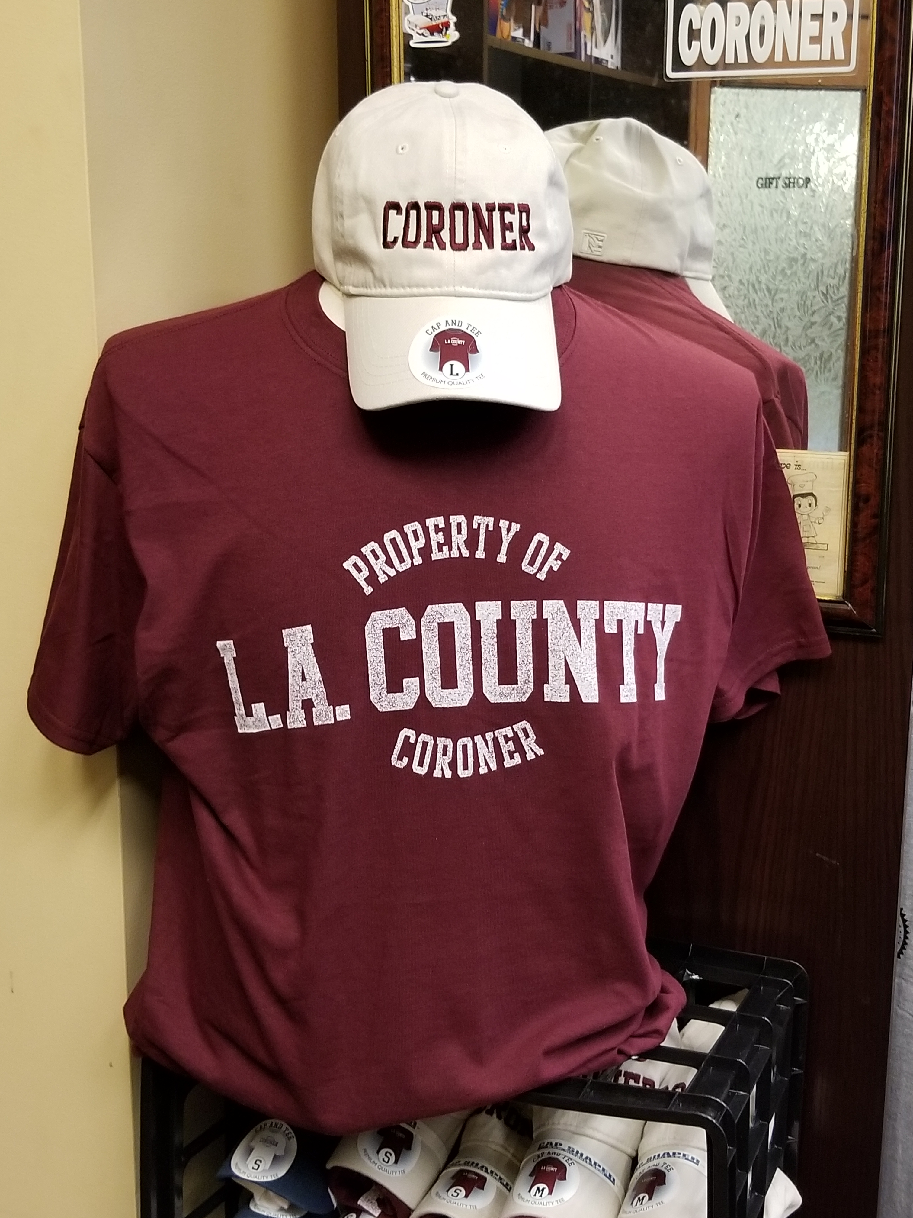 L.A. County Coroner Cap and Tee Combo