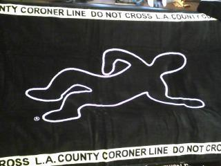 L.A. County Coroner Golf Towel