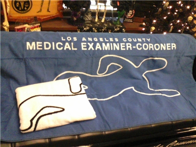 L.A. County Coroner Body Beach Towel-1