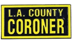 L.A. County Coroner Block Lapel Pin