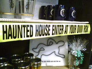 L.A. County Coroner Haunted House Caution Tape