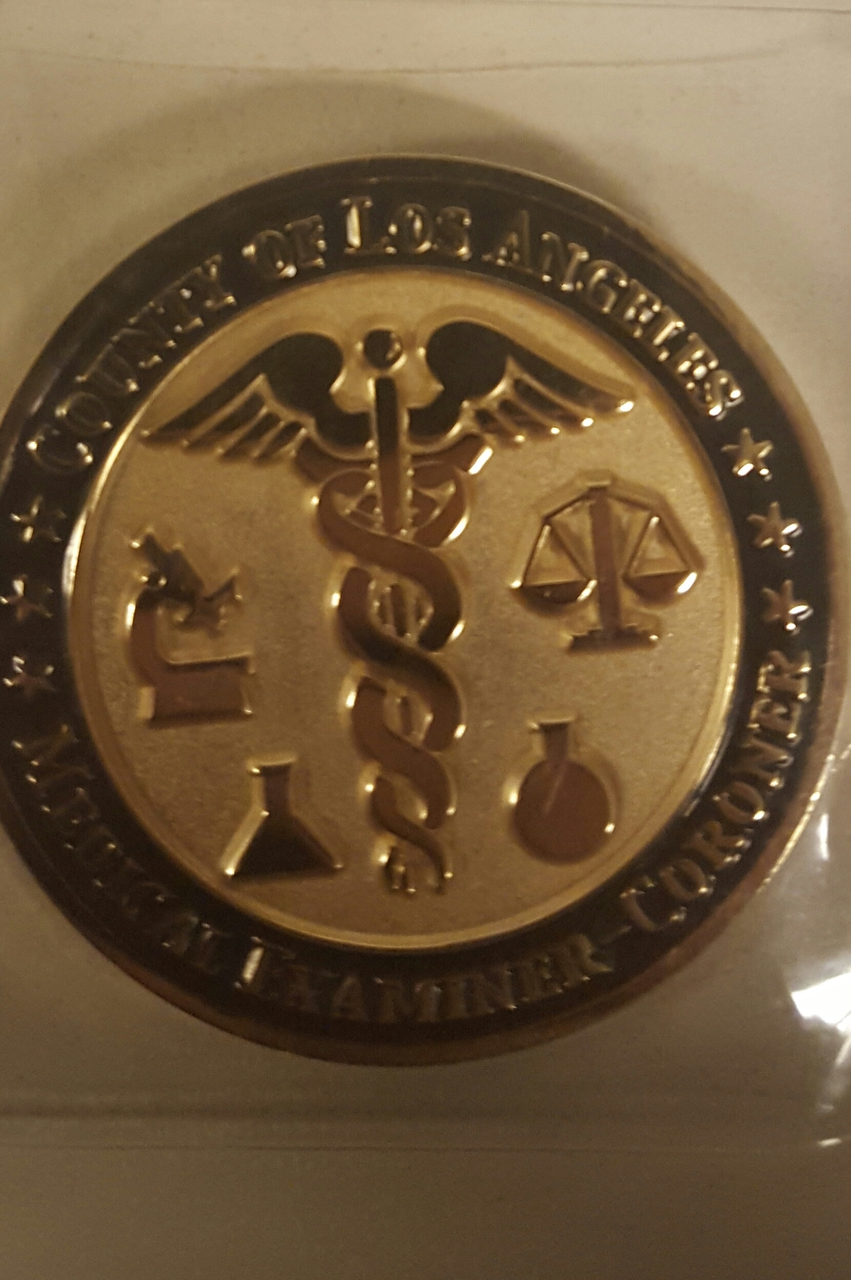 Department of Coroner Collector Coin 1st Edition-2