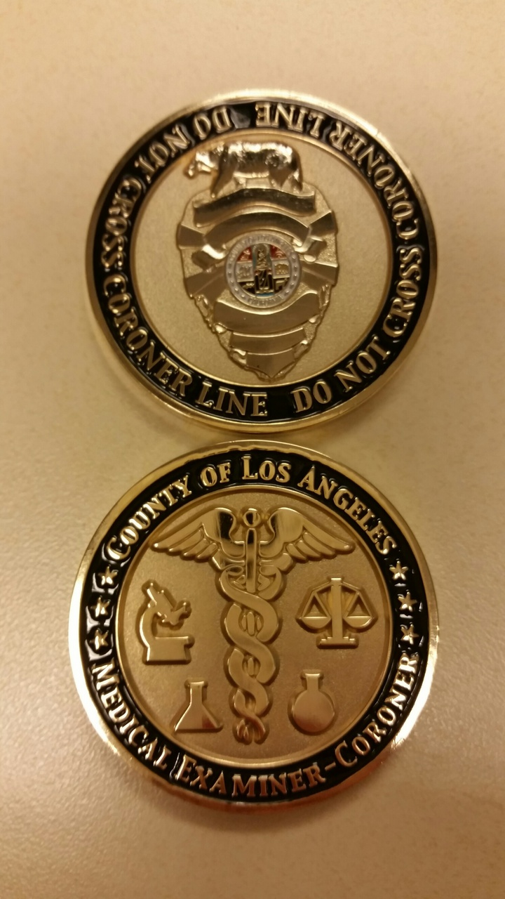 Department of Coroner Collector Coin 1st Edition