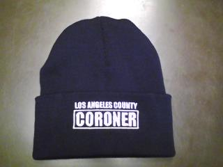 L.A. County Coroner Knit Beanie with Cuff-1