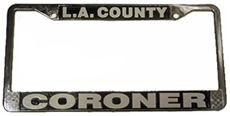 L.A. County Coroner License Plate Frame