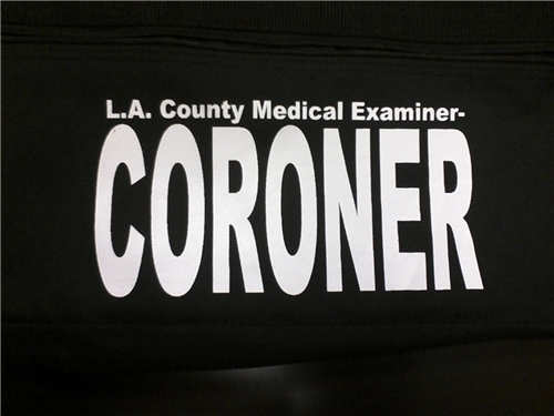 L.A. County Coroner Duffel Bag