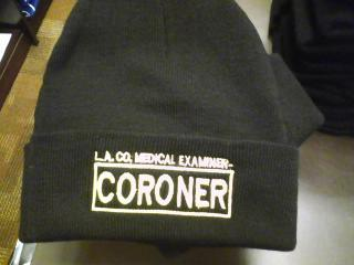 L.A. County Coroner Knit Beanie with Cuff