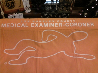 L.A. County Coroner Body Beach Towel-2
