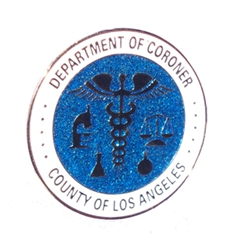 L.A. County Coroner Glitter Seal Magnet