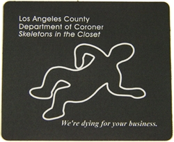 L.A. County Coroner Body Mouse Pad
