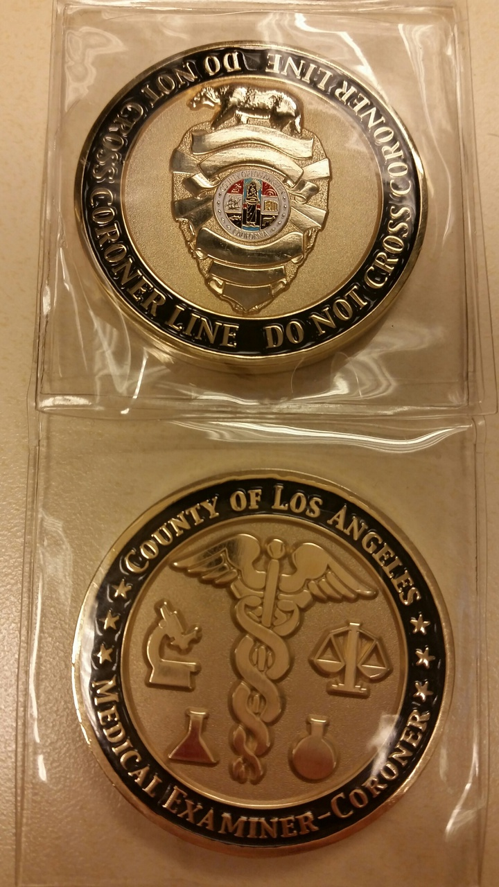 Department of Coroner Collector Coin 1st Edition-1