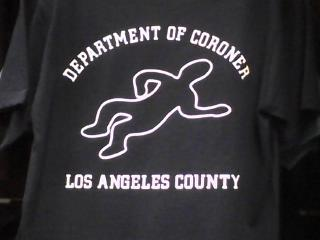 L.A. County Coroner Body Outline Tee