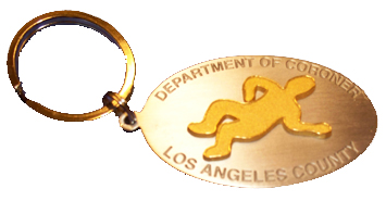 L.A. County Coroner Metal Body Key Chain