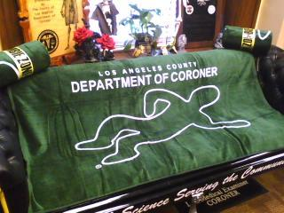 L.A. County Coroner Body Beach Towel-5